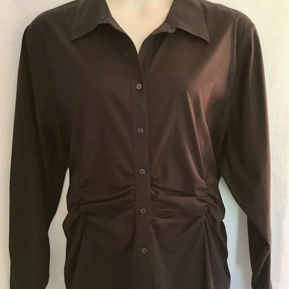 29ad62426aee88 Foxcroft Tops | Noniron Black Button Down Shirt Sz 24w | Poshmark